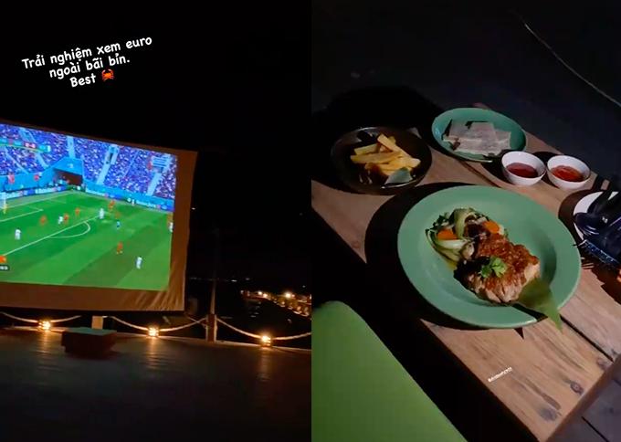 Nhà Duy Mạnh - Văn Quyết xem bóng đá ngoài trời ở resort - 4