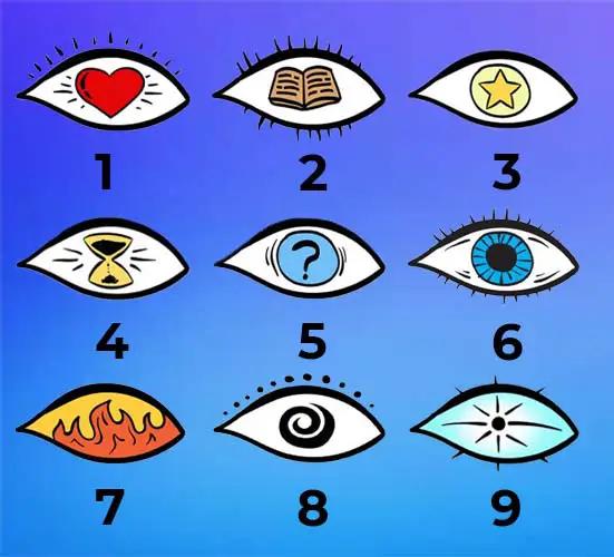Chọn một con mắt để biết bạn là ai.