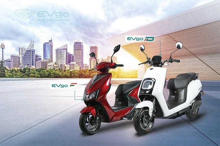 EVgo C (trái) và EVgo D là hai dòng xe mới nhất của Tập đoàn Sơn Hà.