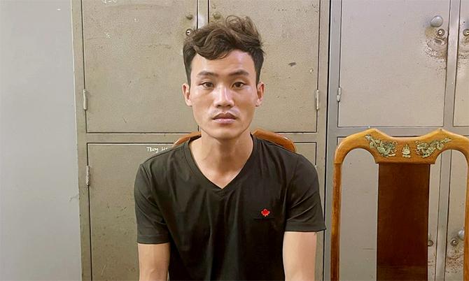 Nguyễn Văn Sang tại cơ quan điều tra. Ảnh: Công an cung cấp