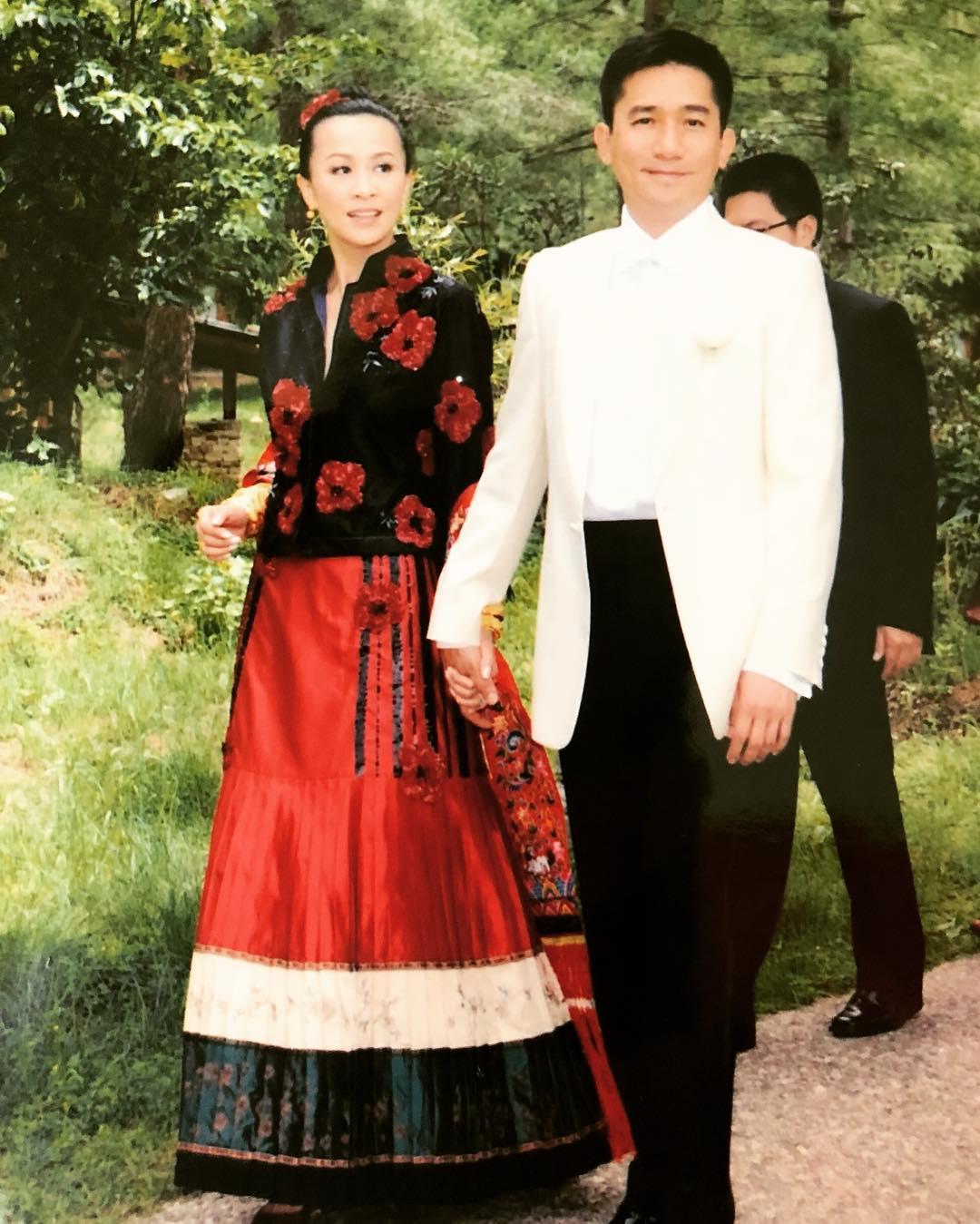 Ảnh cưới của hai ngôi sao.