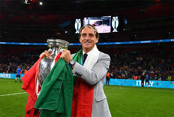 HLV Mancini giúp tuyển Italy hồi sinh sau ác mộng không qua được vòng loại World Cup 2018. Ảnh: AFP.