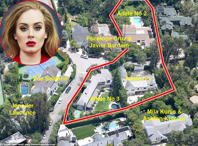 Ba ngôi nhà của Adele ở Hidden Valley.