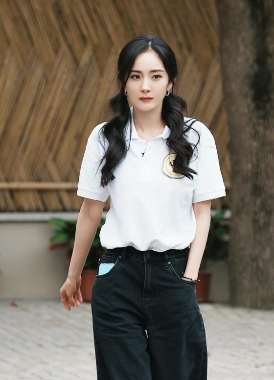 Dương Mịch trên trường quay show mới.