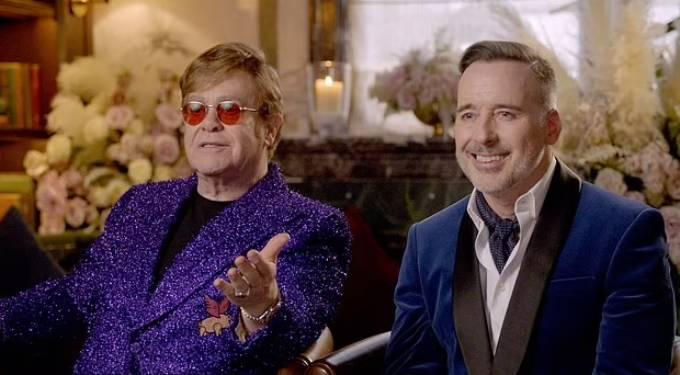 Elton John và chồng, nhà làm phim David Firnish. Ảnh: The Elton John.