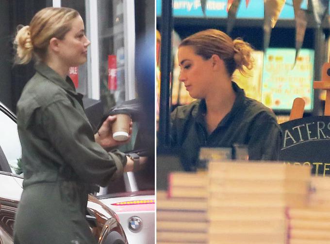 Nữ diễn viên đi dạo và mua sách ở London.
