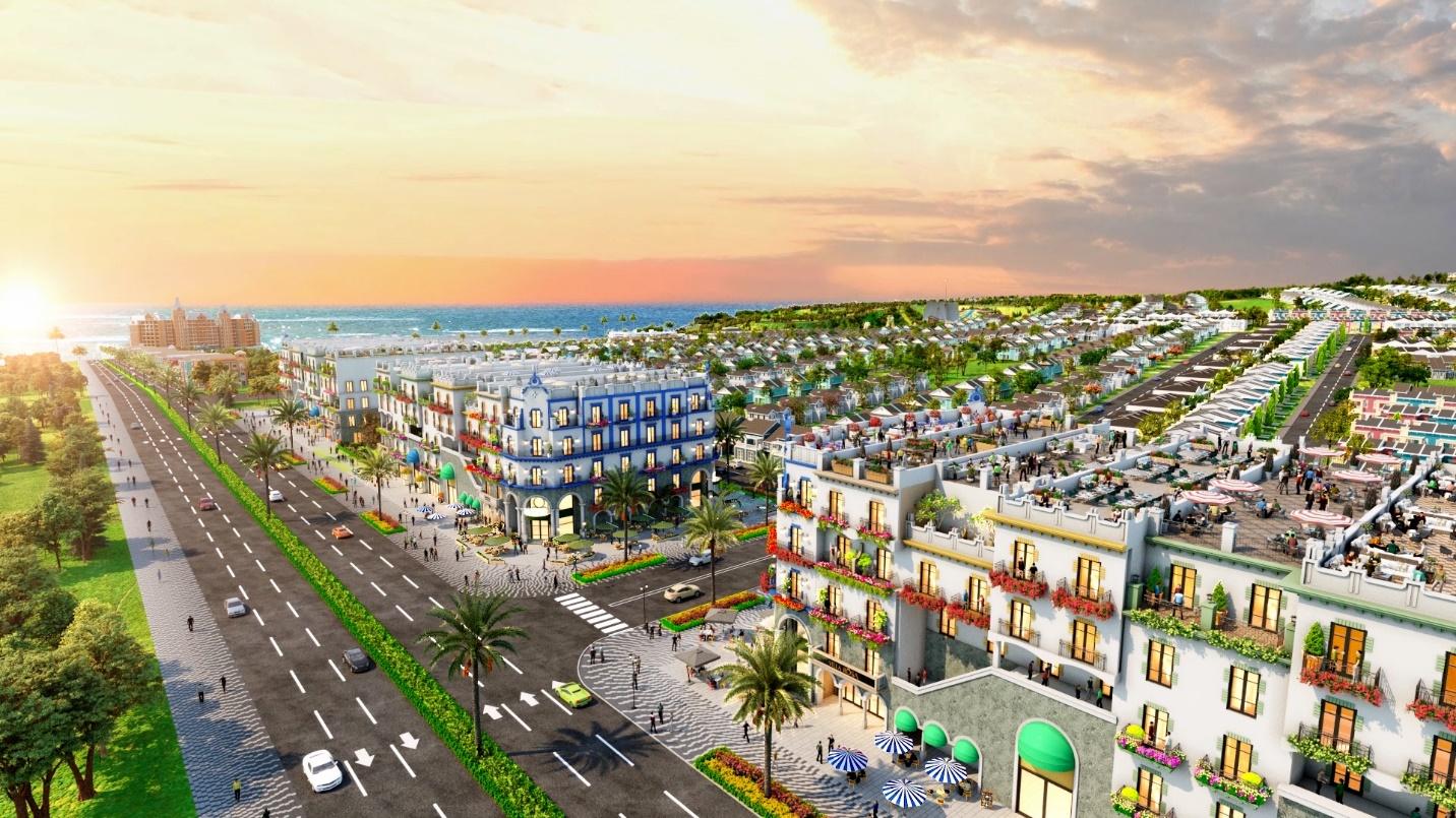 Phối cảnh boutique hotel hướng biển tại NovaWorld Phan Thiet. Ảnh phối cảnh dự án.