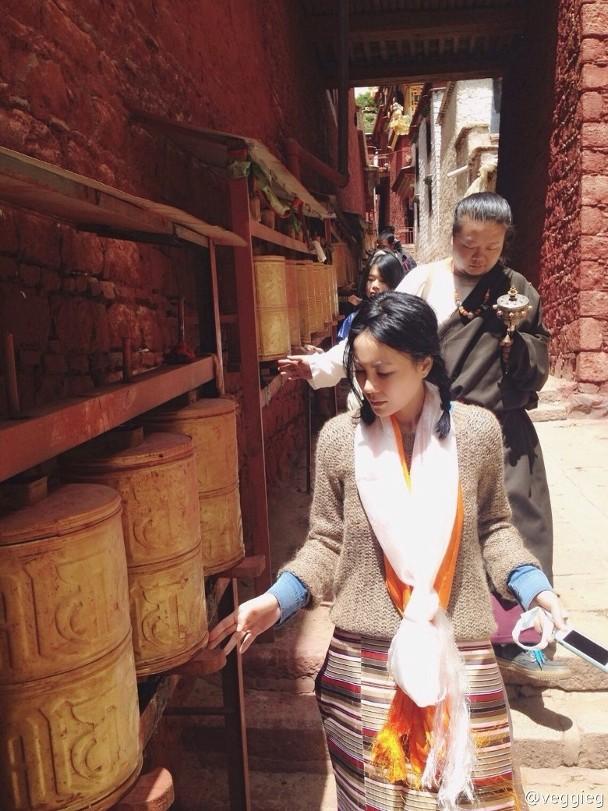 Vương Phi từng đến Tây Tạng hành hương.