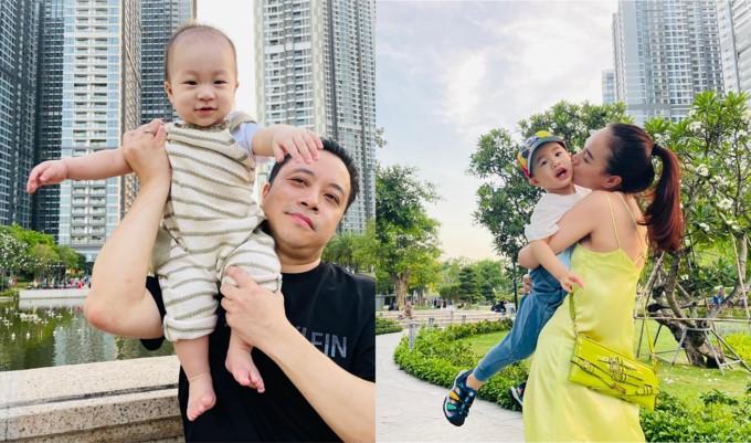 Gia đình Đinh Ngọc Diệp thích du lịch ở Hồ Tràm. Ảnh: Facebook Đinh Ngọc Diệp.