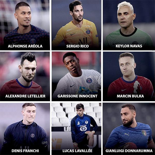 9 thủ môn của PSG. Ảnh: Twitter.