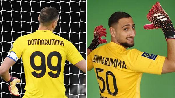 Donnarumma khoác áo số 50 ở PSG, không được chọn số 99 như ở Milan vì quy định ở Ligue 1 không cho phép. Ảnh: Twitter.