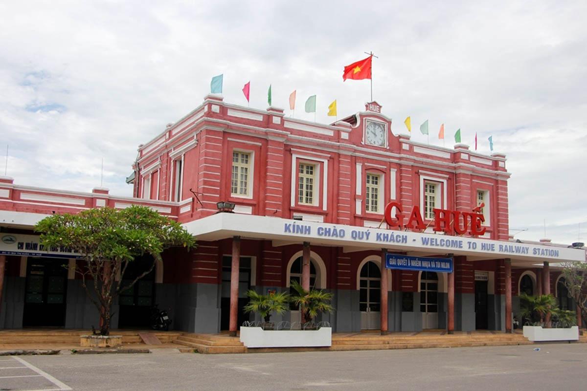 Ga Huế nơi sẽ đón công dân từ TP HCM trở về. Ảnh: Vạn An