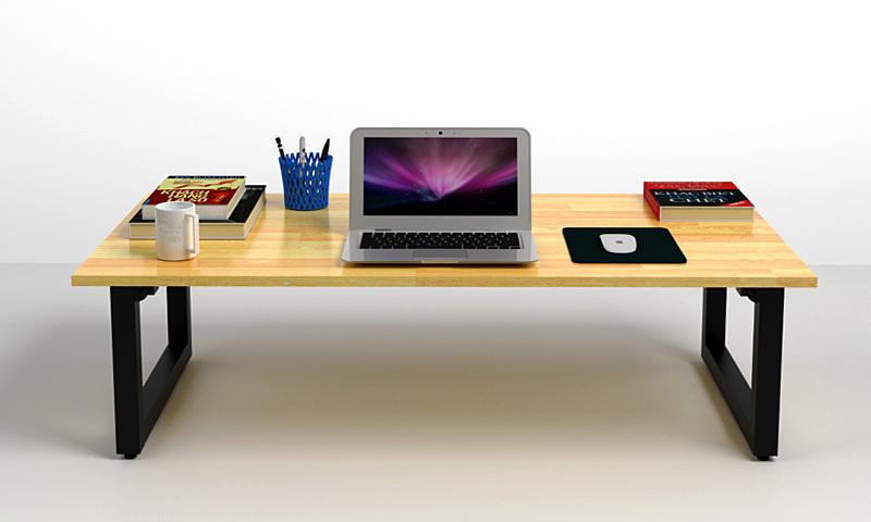 Bộ bàn bệt Rec-B và ghế Pisu đang được ưu đãi 35% còn 1,319 triệu đồng. Bàn bệt Rec-B phù hợp với cả không gian nhỏ, nhờ thiết ghế chân gập tiết kiệm không gian lưu trữ và tiện di chuyển. Ngoài sử dụng làm bàn làm việc, bàn có thể làm bàn trà, bàn ăn. Mặt bàn kích thước 120 x 60 cm, làm từ gỗ cao su dày 18 mm đã được tẩm sấy, sơn PU và phủ 2K hai mặt. Khung bàn bằng sắt hộp 4 x 4 cm sơn tĩnh điện. Bốn nút tăng đơ dưới chân có tác dụng giúp bàn cân bằng, không bị xê dịch khi sử dụng và tránh làm trầy xước sàn nhà. Ghế Pisu là loại ghế bệt tựa lưng, tạo thoải mái cho người ngồi làm việc.