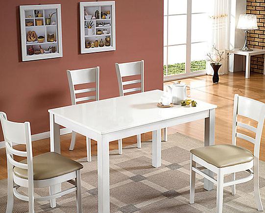 Bộ bàn ăn 4 ghế IBIE Ulsan màu trắng 2.315.700đ (- 40 %)Chất lượng xuất khẩu Hàn quốc.- Chất liệu chính làm từ gỗ cao su- Mặt bàn gỗ MDF phủ veneer sồi sang trọng- Kết cấu chắc chắn, gia công tỉ mỉ.- Bộ gồm các loại 4, 6, 8 ghế với nhiều kích thước bàn.Bộ bàn ăn Ulsan gồm 1 bàn và 4 ghế, kích thước vừa đủ để không chiếm quá nhiều diện tích của phòng ăn. Chỉ cần một góc nhỏ với bộ bàn ăn, bạn đã có một bữa cơm gia đình đầm ấm. Thiết kế mang phong cách Hàn quốc rất phù hợp với căn hộ chung cư, đặc biệt là các gia đình trẻ. Tuy đơn giản nhưng bộ bàn ăn này vẫn  mang đến vẻ đẹp sang trọng, hiện đại cho không gian nhà bạn.Bộ bàn ăn Ulsan  với tone màu trắng dịu, tạo cảm giác tươi mới và không gian trở nên thoáng và rộng hơn, dễ dàng kết hợp với nhiều tone màu khác nhau.Miễn phí vận chuyển nội thành HCMTHỜI GIAN GIAO HÀNG: Từ 1-3 ngày