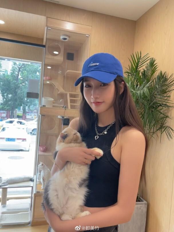 Đô Mỹ Trúc, bạn gái cũ Ngô Diệc Phàm. Ảnh: Weibo.