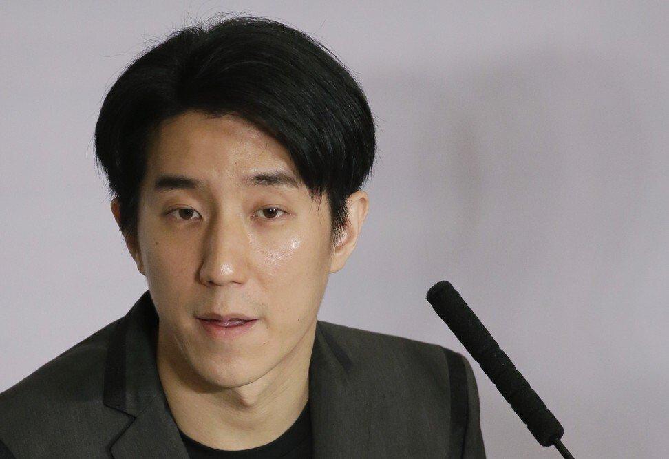 Nam diễn viên Hong Kong Jaycee Chan (Phùng Tổ Danh) - con trai của nam diễn viên Thành Long - đã lên tiếng xin lỗi và mong muốn có được cơ hội thứ hai, sau khi thụ án 6 tháng tù giam vì cho phép bạn bè sử dụng cần sa trong căn hộ của anh vào năm 2014. Ảnh: AP