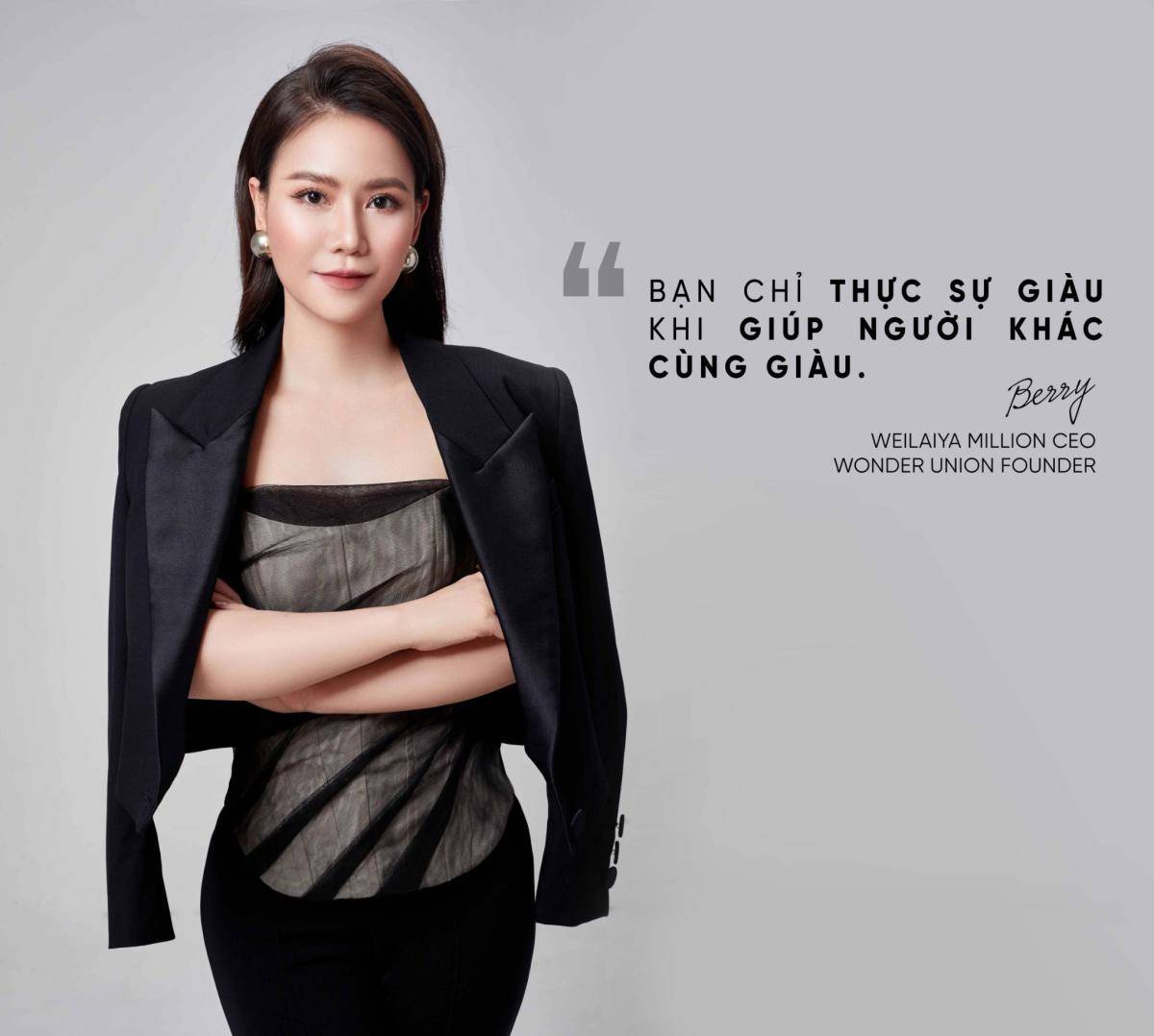 Nguyễn Diệu Linh (Linh Berry) - Người đưa thương hiệu mỹ phẩm Weilaiya về Việt Nam.