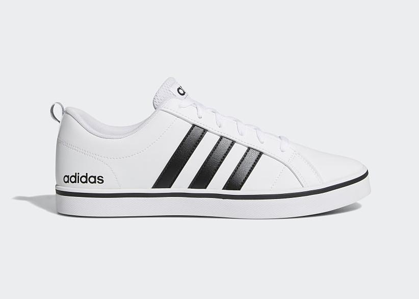 Giày thể thao nam Adidas VS Pace AW4594 giảm 9% còn 1,69 triệu đồng (áp dụng voucher 500.000 đồng, còn 1,19 triệu đồng); chất liệu bên ngoài da trơn nhẵn; đáy cao su, TPU và EVT đế dày; chống mài mòn; chống trơn trượt, phù hợp với bàn chân thon.
