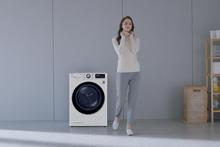 Máy sấy LG Dual Inverter Heat Pump có thể giúp làm khô, bảo quản quần áo tiện lợi hơn.