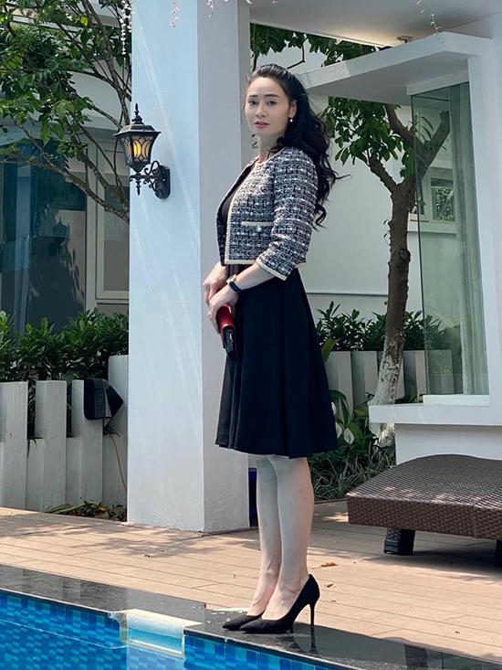 Tạo hình của Quách Thu Phương trong Hương vị tình thân.