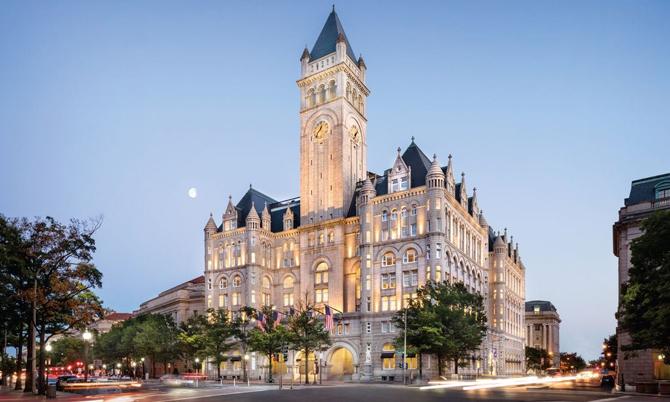 Khách sạn Quốc tế Trump ở thủ đô Washington. Ảnh: Trump Organization.