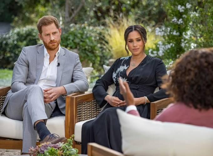 Nhà Sussex đưa ra những tuyên bố, tiết lộ gây sốc trong phỏng vấn với Oprah Winfrey hồi tháng 3. Ảnh: PA.