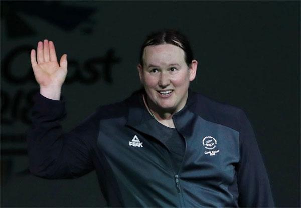 Nữ VĐV cử tạ Laurel Hubbard trở thành đô cử chuyển giới đầu tiên tranh tài ở Olympic Tokyo. Ảnh: Reuters.