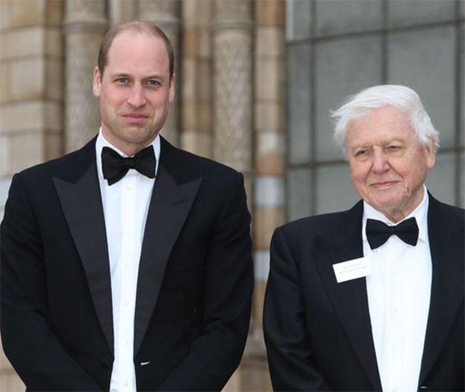 Cuốn sách của Công tước xứ Cambridge có sự đóng góp của nhà tự nhiên học và phát thanh viên Sir David Attenborough. Ảnh: PA.