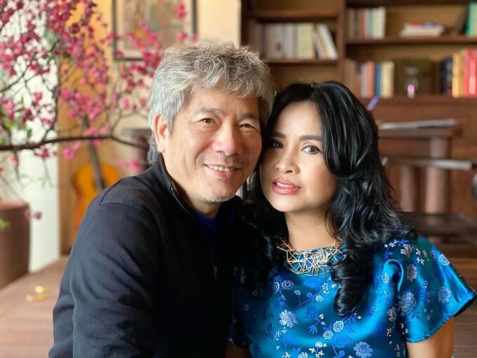 Ca sĩ Thanh Lam và chồng, bác sĩ Bùi Tiến Hùng.