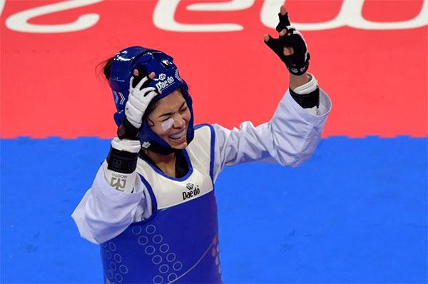 Võ sĩ taekwondo  Fernanda Aguirre của Chile dương tính với Covid-19, không thể tranh tài hôm 26/7 tới. Ảnh: AFP.