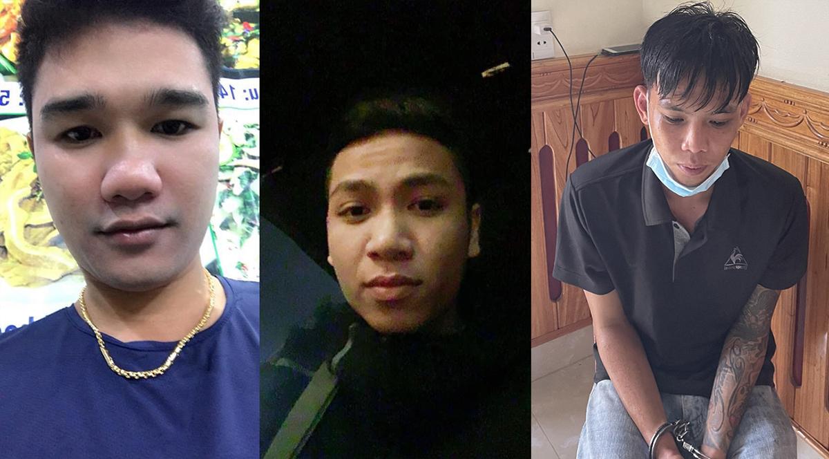 Nguyễn Văn Cường (bìa phải) và hai đồng phạm gây án.