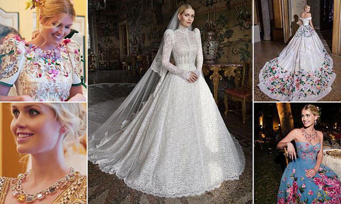 Cháu gái Diana thay 5 bộ váy trong suốt đám cưới của mình. Ảnh: Mail.