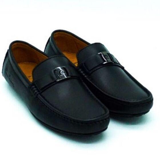 Giày Pierre Cardin PCMFWLE 706BLK; chất liệu da bò; thiết kế và kiểu dáng hiện đại.
