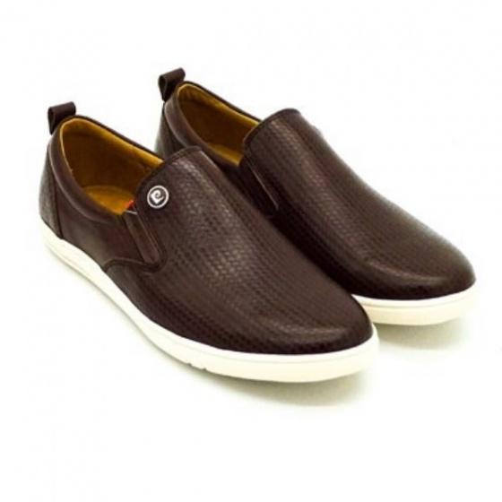 Giày lười nam Pierre Cardin PCMFWLE711BRW; công nghệ may ép cement; chất liệu da bò; đế cao su nhiệt dẻo TPR.