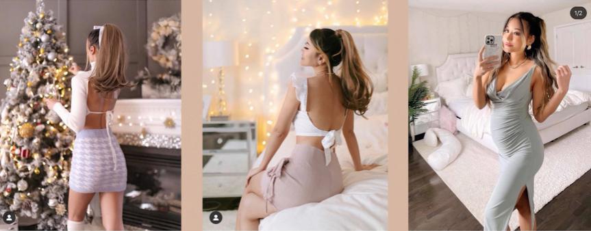 dành cho váy áo cổ xẻ sâu hoặc hở lưng