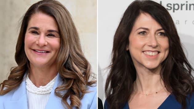 Bà Melinda French Gates (trái) và Mackenzie Scott. Ảnh: CNBC.