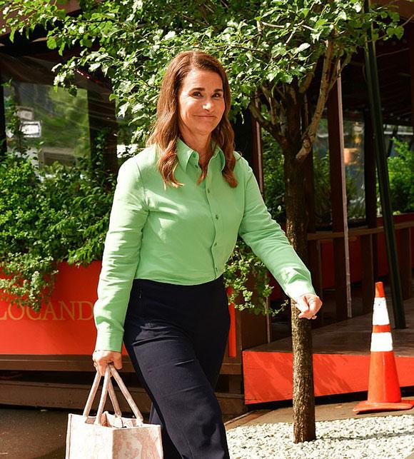 Bà Melinda tươi cười sau tuyên bố ly hôn. Ảnh: GC Images.