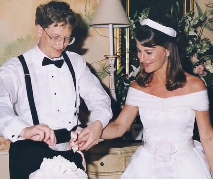 Bill và Melinda Gates trong ngày cưới năm 1994. Ảnh: Instagram.