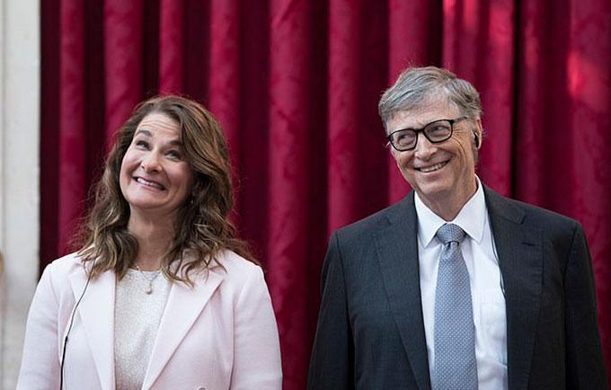 Bill và Melinda Gates trước khi thông báo ly hôn. Ảnh: AP.