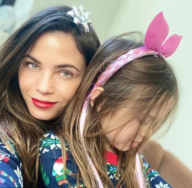 Jenna Dewan bên con gái Everly hiện 8 tuổi.