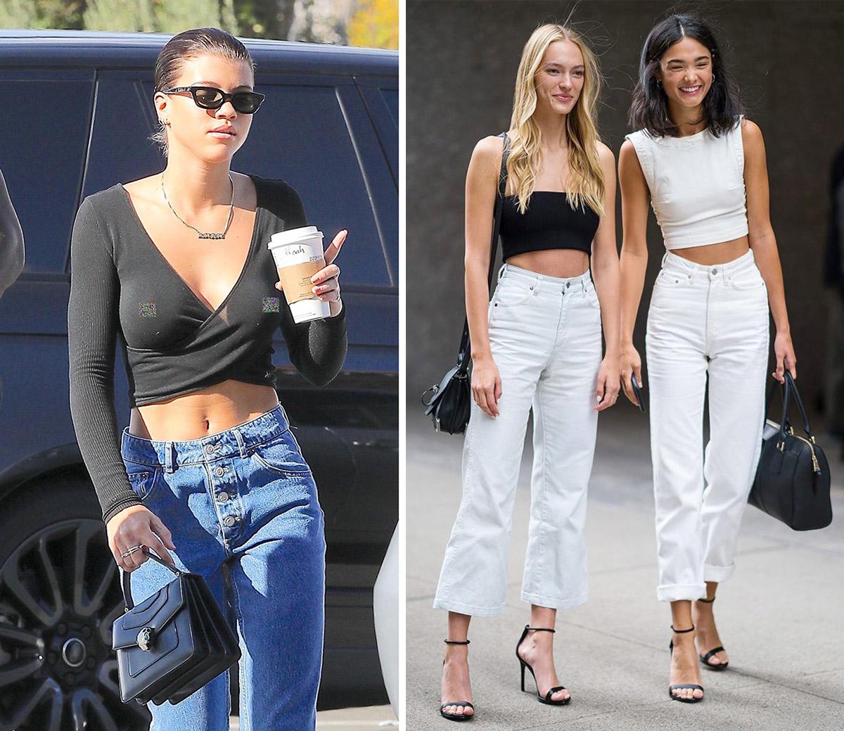 Crop-top Đây là kiểu trang phục chỉ phù hợp với giới trẻ. Mọi người thường mặc crop-top kèm legging hoặc quần jeans, không hề thời trang hay sang chảnh chút nào, Anna nói. Tuy nhiên, cô cũng đề cập đến trường hợp ngoại lệ, đó là khi crop-top được làm từ chất liệu tốt, cắt may chỉn chu và mix cùng chân váy hay quần cạp cao đồng điệu.