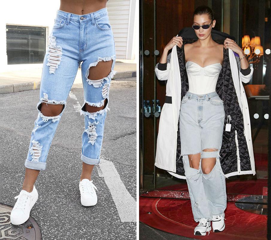 Quần jeans rách Có gì đẹp đẽ ở quần jeans rách, đặc biệt là những vết rách lớn?, Anna tự hỏi. Cô biết nhiều người thích trang phục này, nhưng nó không được xếp vào hạng mục thanh lịch.