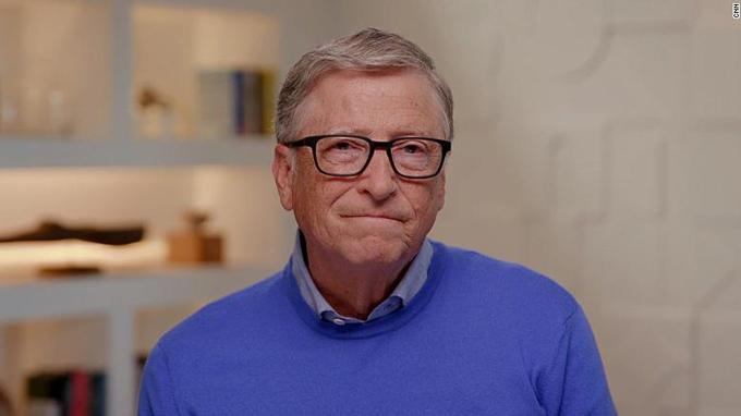 Bill Gates trong cuộc phỏng vấn trực tuyến với CNN tối 4/8. Ảnh: CNN.