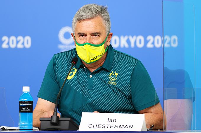 Trưởng đoàn thể thao Australia Ían Chesterman tại Olympic Tokyo 2020. Ảnh: GI.