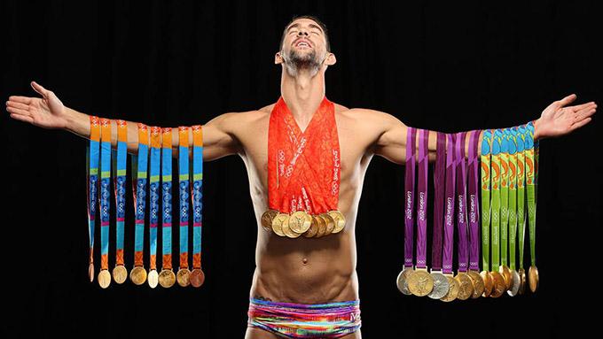Michael Phelps là VĐV giữ kỷ lục giành nhiều huy chương Olympic nhất. Ảnh: Twitter.