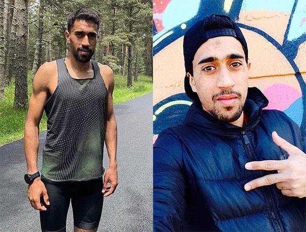 Morhad Amdouni giải thích rằng vì chai nước trơn nên anh không cầm được ngay chai đầu, vô tình làm đổ cả một hàng. Ảnh: FB.