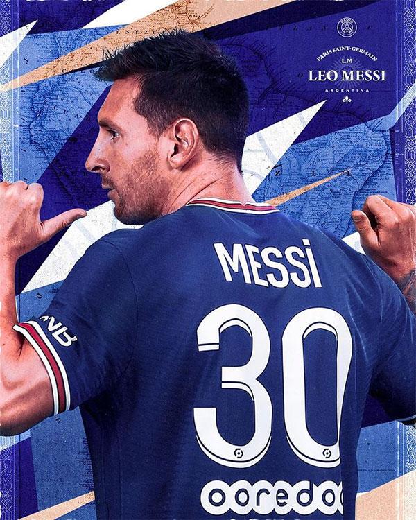Messi khiến danh tiếng của PSG thêm sức hút sau khi đồng ý ký hợp đồng thi đấu hai năm. Ảnh: Instagram.