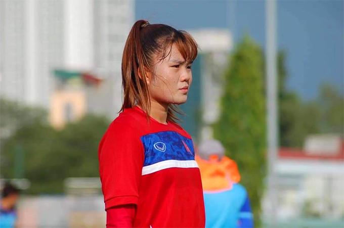 Trần Thị Hạnh khi còn tập luyện ở đội nữ trẻ Việt Nam.
