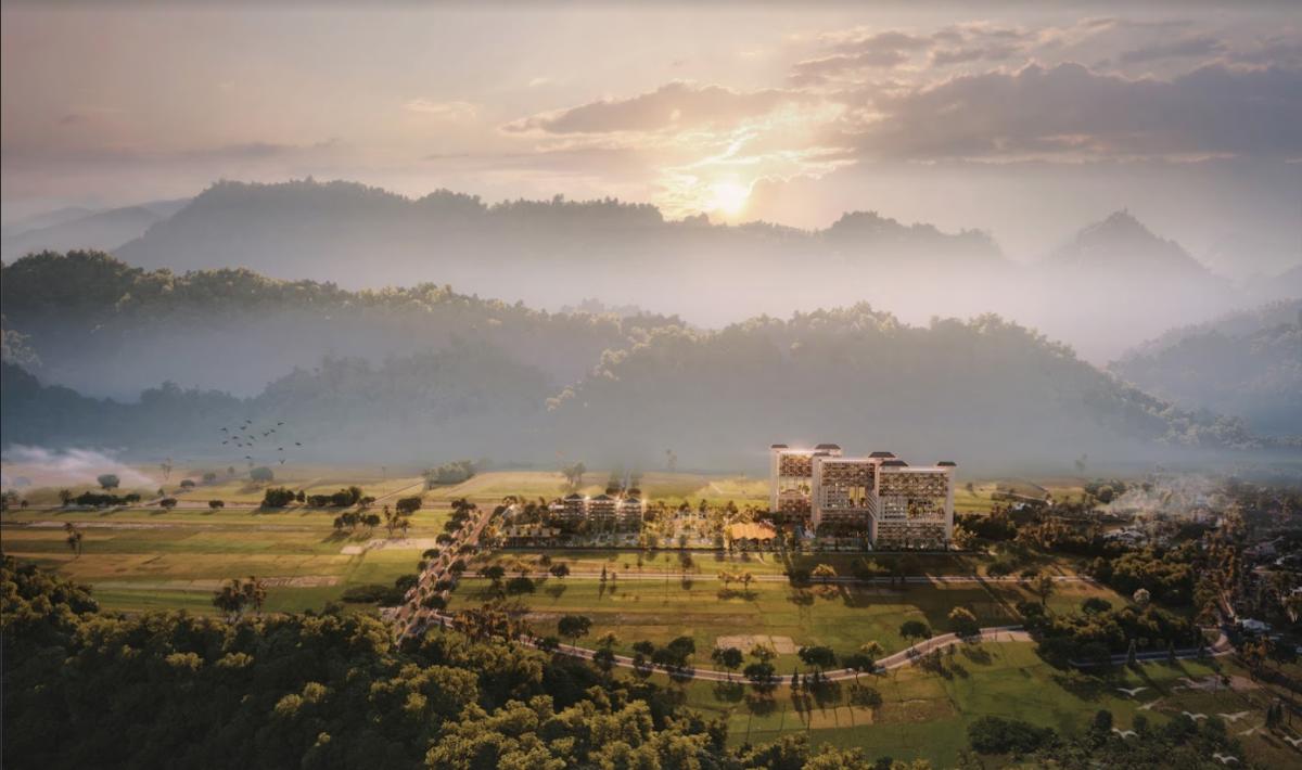 Toàn cảnh APEC Mandala Sky Villas Kim Bôi.