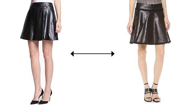 Chiếc chân váy nào là tác phẩm do Alexander Wang sáng tạo, có giá 1.295 USD - cao gấp 6 lần mẫu còn lại?>> Xem đáp án